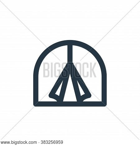 tent icon isolated on white background from holiday collection. tent icon trendy and modern tent sym