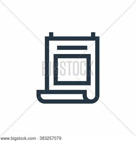 poster icon isolated on white background from graphic design collection. poster icon trendy and mode