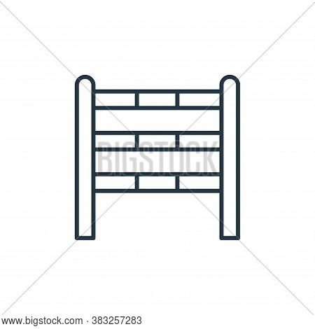 barrier icon isolated on white background from racing collection. barrier icon trendy and modern bar