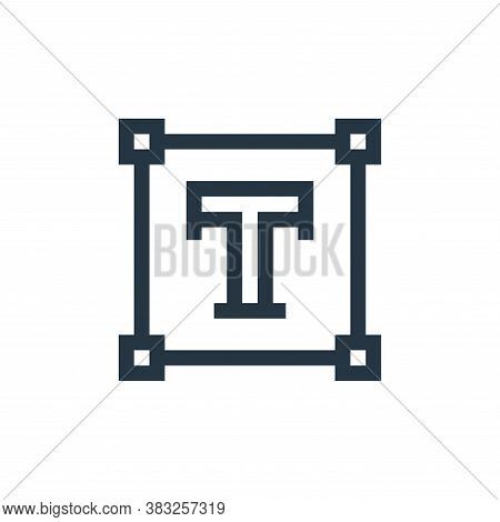 text icon isolated on white background from graphic design collection. text icon trendy and modern t