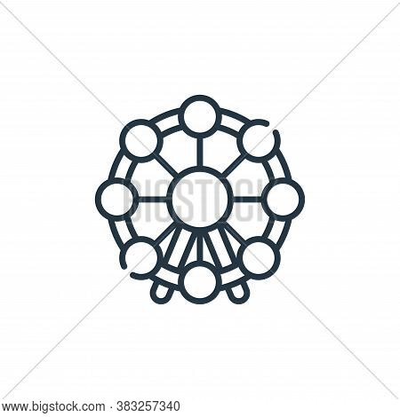 ferris wheel icon isolated on white background from carnival collection. ferris wheel icon trendy an