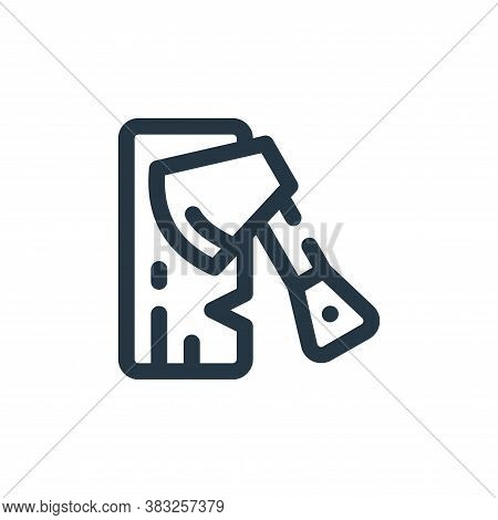 axe icon isolated on white background from labour day collection. axe icon trendy and modern axe sym