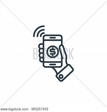 mobile payment icon isolated on white background from money collection. mobile payment icon trendy a