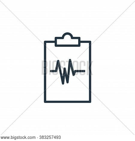 medical records icon isolated on white background from health collection. medical records icon trend