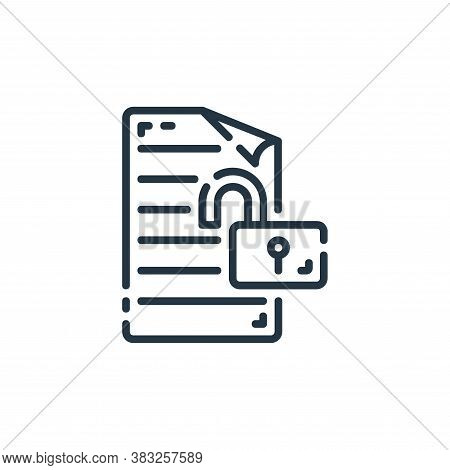 unlock icon isolated on white background from documents collection. unlock icon trendy and modern un