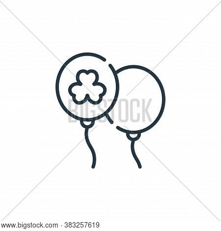 balloon icon isolated on white background from ireland collection. balloon icon trendy and modern ba