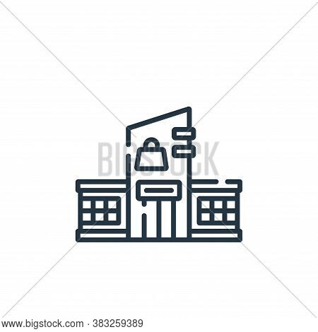 mall icon isolated on white background from public services collection. mall icon trendy and modern