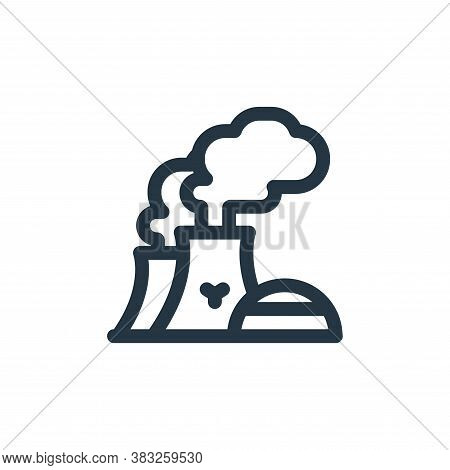 nuclear power icon isolated on white background from nuclear energy collection. nuclear power icon t