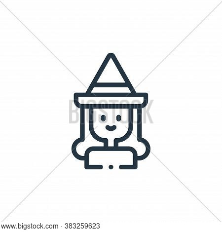 witch icon isolated on white background from magic collection. witch icon trendy and modern witch sy