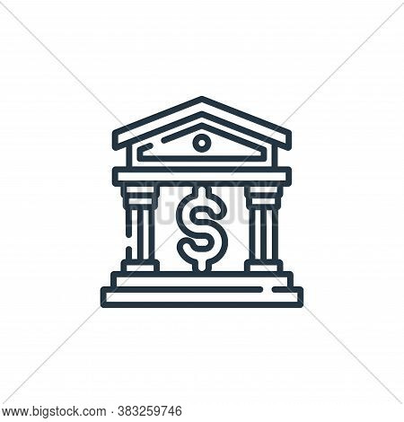 bank icon isolated on white background from public services collection. bank icon trendy and modern