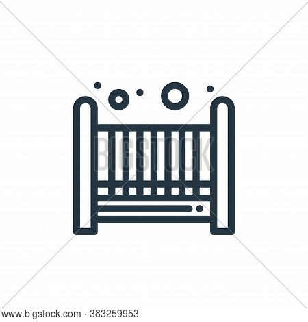 cradle icon isolated on white background from baby shower collection. cradle icon trendy and modern