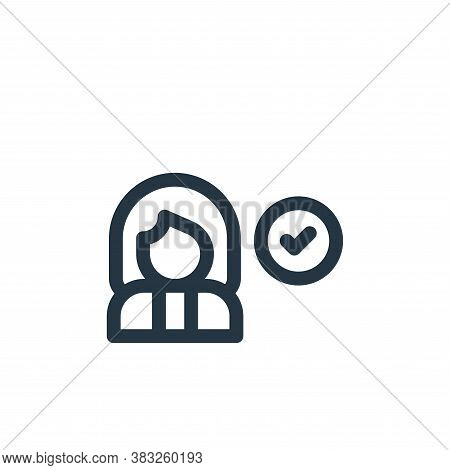 woman icon isolated on white background from voting elections collection. woman icon trendy and mode