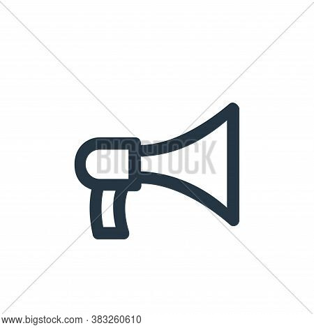 bullhorn icon isolated on white background from business and management collection. bullhorn icon tr