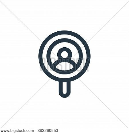 search icon isolated on white background from voting elections collection. search icon trendy and mo