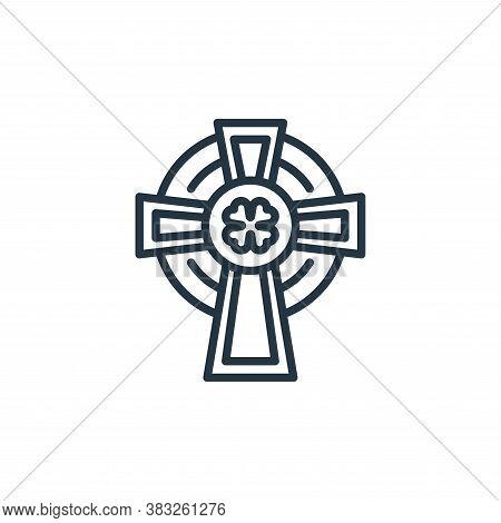 faith icon isolated on white background from st patrick day collection. faith icon trendy and modern