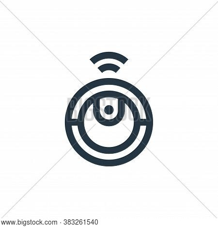 robot vacuum cleaner icon isolated on white background from futuristic technology collection. robot