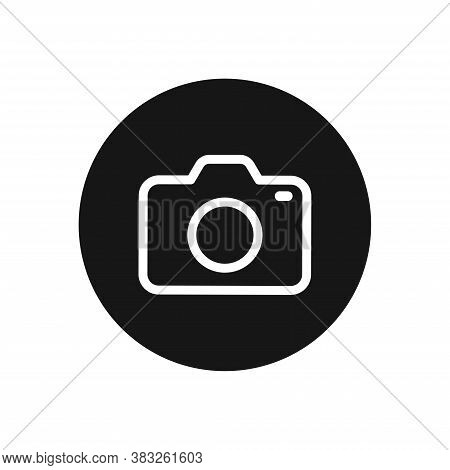 Photo Camera Icon Isolated On White Background. Photo Camera Icon In Trendy Design Style For Web Sit