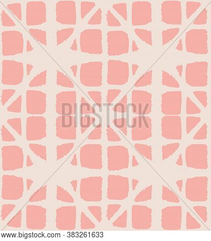 Japanese Tie Dye Seamless Pattern. Geometric Bohemian Asian Tie Dye Design. Organic Shibori Seamless