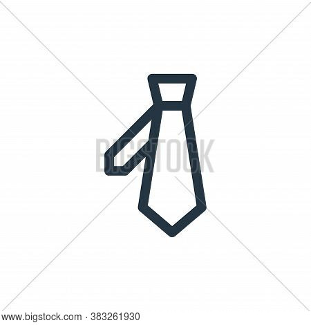 tie icon isolated on white background from voting elections collection. tie icon trendy and modern t