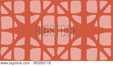 Japanese Tie Dye Seamless Pattern. Deco Shape Curve Pattern Bohemian Geometric Asian Tie Dye Texture