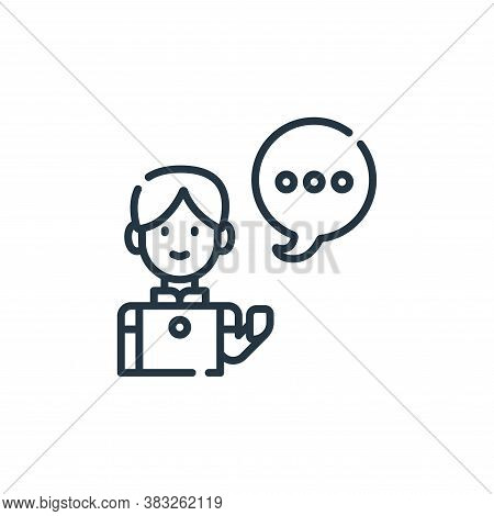 conversation icon isolated on white background from friendship collection. conversation icon trendy
