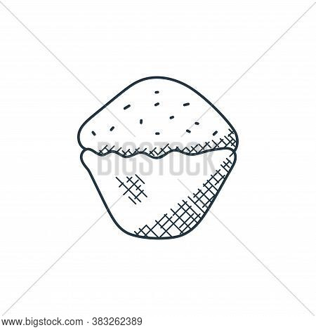 cupcake icon isolated on white background from food collection. cupcake icon trendy and modern cupca
