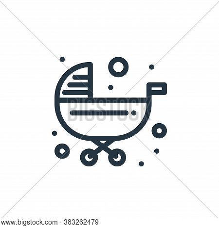 trolley icon isolated on white background from baby shower collection. trolley icon trendy and moder