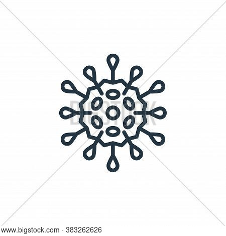 virus icon isolated on white background from microorganism collection. virus icon trendy and modern