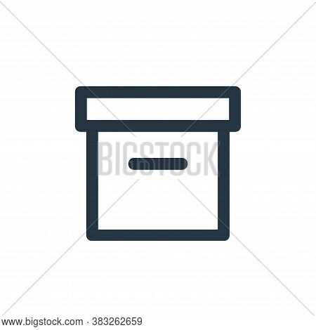 archive icon isolated on white background from business and management collection. archive icon tren