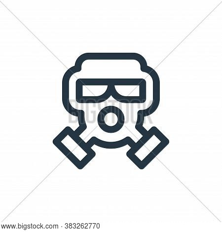 gas mask icon isolated on white background from nuclear energy collection. gas mask icon trendy and