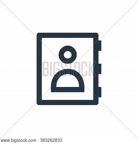 address book icon isolated on white background from business and management collection. address book