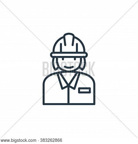 labor woman icon isolated on white background from labour day collection. labor woman icon trendy an