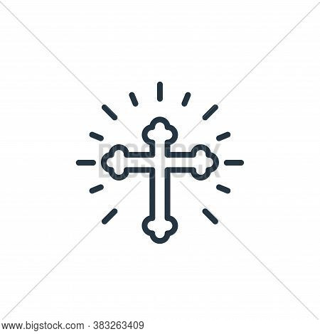 cross icon isolated on white background from easter collection. cross icon trendy and modern cross s