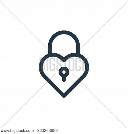 padlock icon isolated on white background from valentines day collection. padlock icon trendy and mo