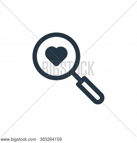 searching icon isolated on white background from valentine collection. searching icon trendy and mod