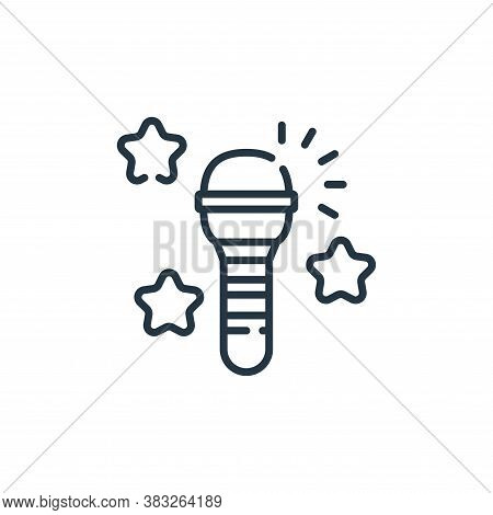 microphone icon isolated on white background from friendship collection. microphone icon trendy and