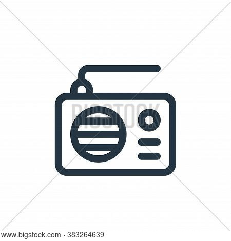 radio icon isolated on white background from voting elections collection. radio icon trendy and mode