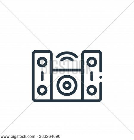 hifi icon isolated on white background from music collection. hifi icon trendy and modern hifi symbo