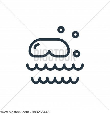 scuba diving icon isolated on white background from water park collection. scuba diving icon trendy