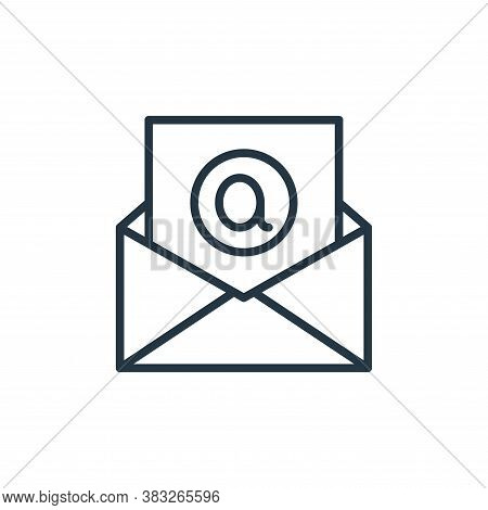 email icon isolated on white background from social media collection. email icon trendy and modern e