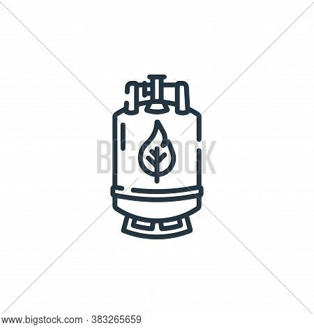 natural gas icon isolated on white background from public services collection. natural gas icon tren