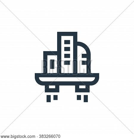 city icon isolated on white background from futuristic technology collection. city icon trendy and m