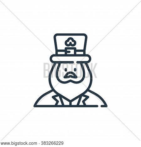 leprechaun icon isolated on white background from st patrick day collection. leprechaun icon trendy