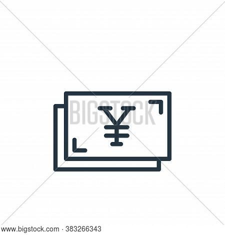yens icon isolated on white background from busines and finace collection. yens icon trendy and mode