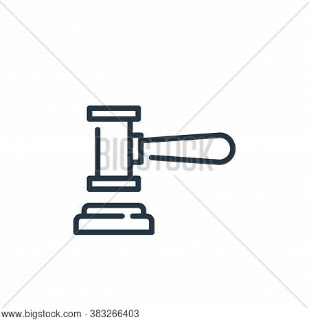 gavel icon isolated on white background from business collection. gavel icon trendy and modern gavel
