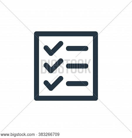 tasks icon isolated on white background from business and management collection. tasks icon trendy a