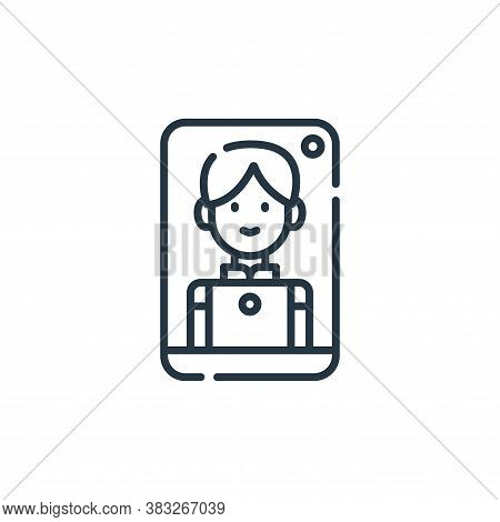 video call icon isolated on white background from friendship collection. video call icon trendy and