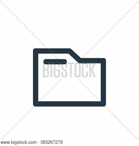 folders icon isolated on white background from business and management collection. folders icon tren