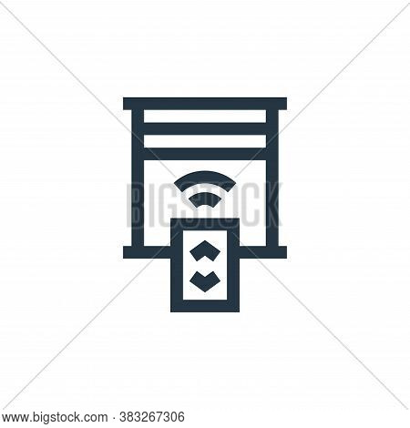 blinds icon isolated on white background from futuristic technology collection. blinds icon trendy a
