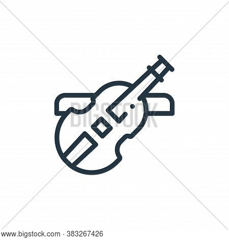 violin icon isolated on white background from music collection. violin icon trendy and modern violin